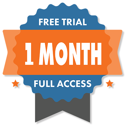 1 Month Full Access Free Trial Seal